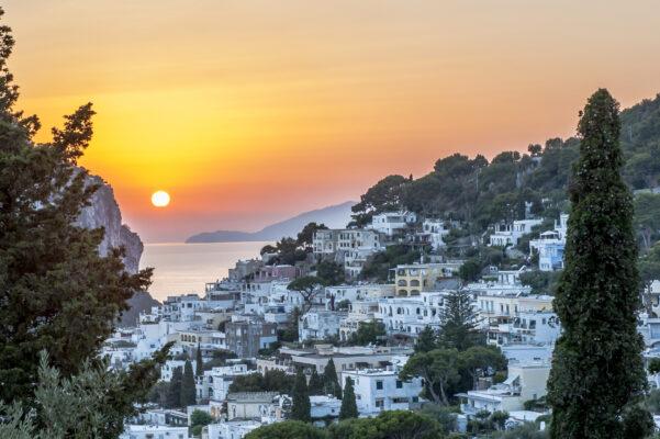 Italien Capri Sonnenuntergang