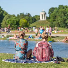 München Englischer Garten Baden