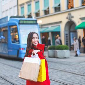 München Shopping Frau