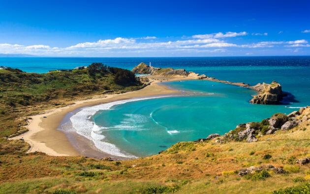 Neuseeland North Island Castlepoint Leuchtturm