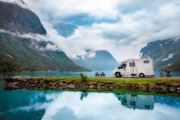 Norwegen Camping Caravan