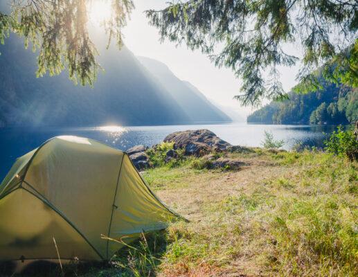 Norwegen Camping Zelt