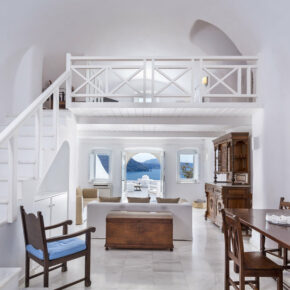 Santorini Canaves Oia Wohnzimmer