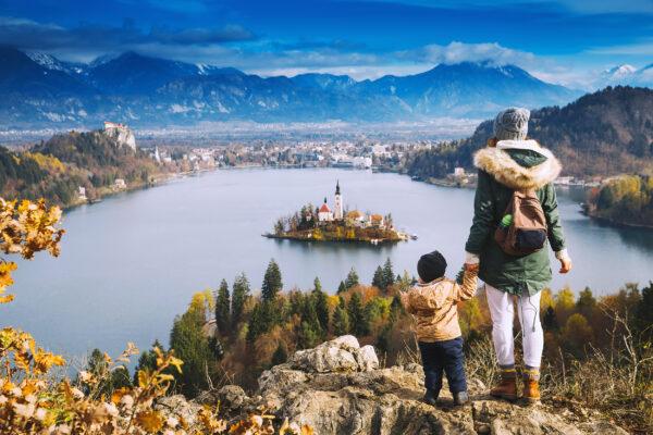 Slowenien Bleder See Ausblick