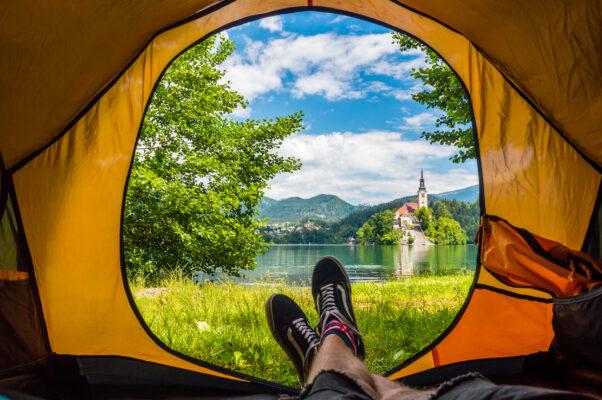 Slowenien Bleder See Camping