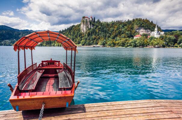 Slowenien Bleder See Boot