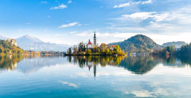 Slowenien Bleder See Kirche