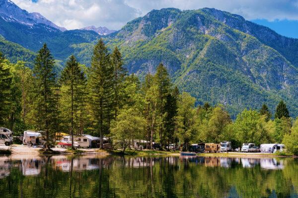 Slowenien Bohinj See Camping