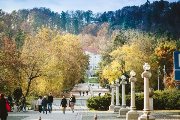 Slowenien Ljubljana Tivoli Park