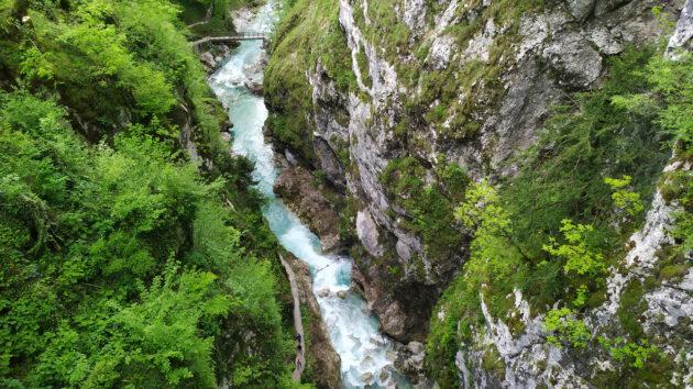 Slowenien Tolmin Klamm