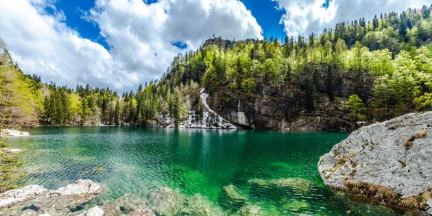 Slowenien Triglav schwarzer See