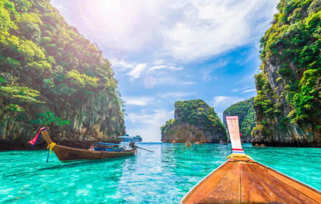 Thailand Phi Phi Inseln Loh Samah Bay Boot