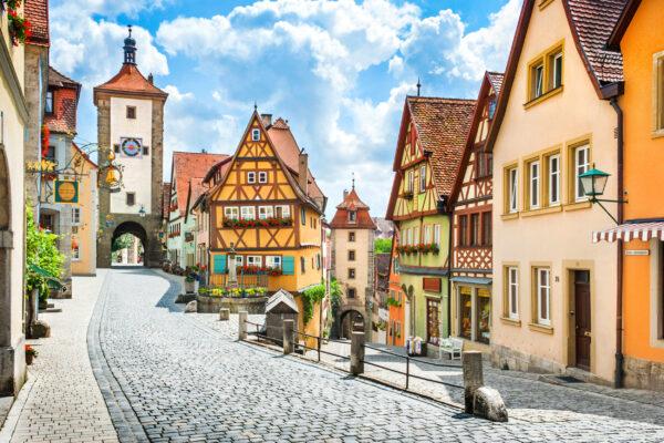 Deutschland Rothenburg ob der Tauber Häuser