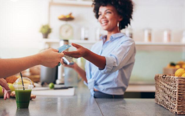 Einkaufen mit Kreditkarte
