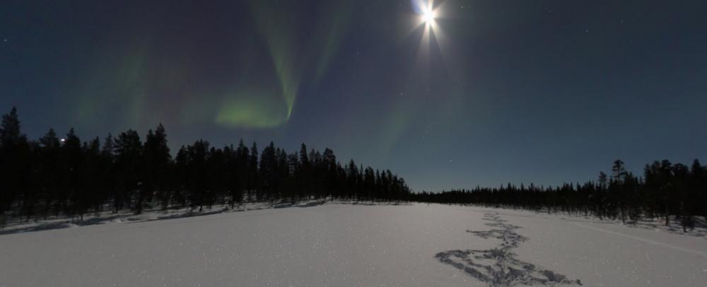 Google Streetview Polarlichter Finnland