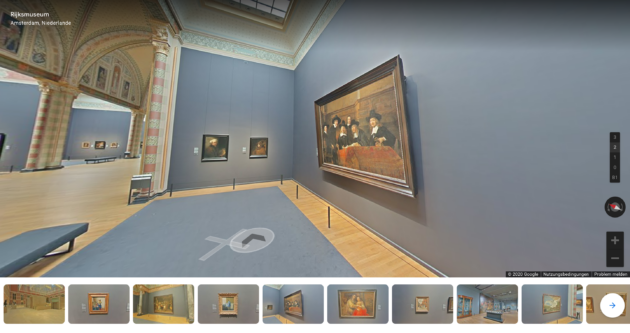 Rijksmuseum Google Arts and Culture Rundgang