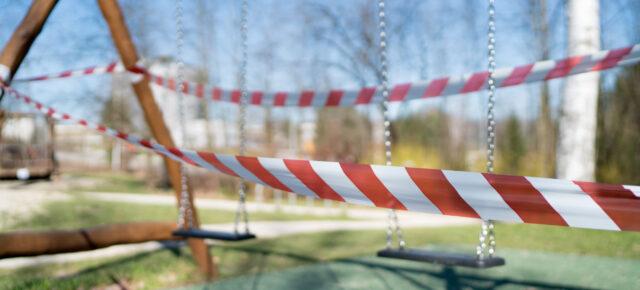 Coronavirus Spielplatz gesperrt
