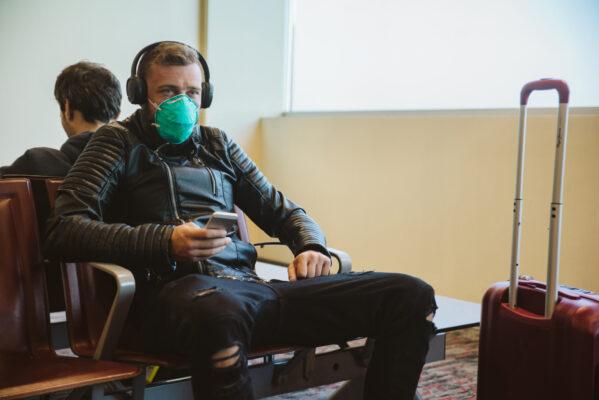 Flughafen Maske