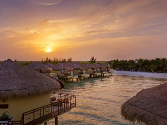 Mexiko El Dorado Maroma Bungalows Sonnenuntergang