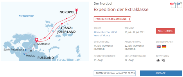 13 Tage Nordpol Expedition
