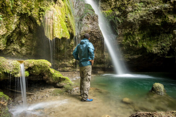 Deutschland Allgäu Hinanger Wasserfall