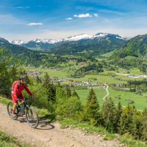Deutschland Allgäu Radfahren