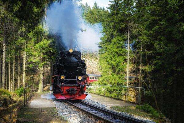 Deutschland Harz Brocken Schmalspurbahn