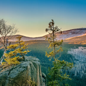 Deutschland Harz Brocken Sonnenaufgang