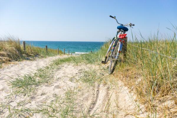 Deutschland Ostsee Fahrrad Düne
