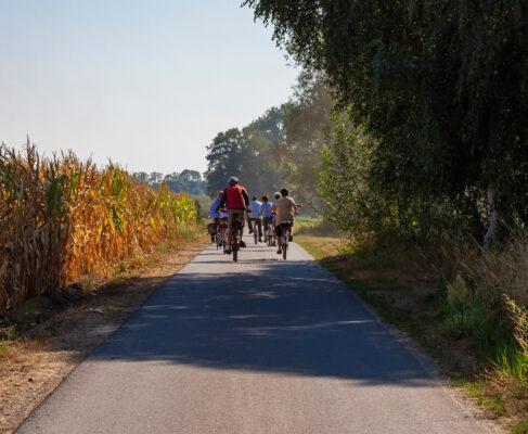 Deutschland Spreewald Fahrradfahren