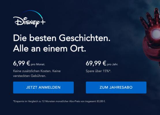 Disney Plus Jahresabo Rabatt