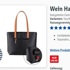 Zu Vino sag ich nie No: Wein Handtasche mit integriertem Zapfhahn nur 29,99€