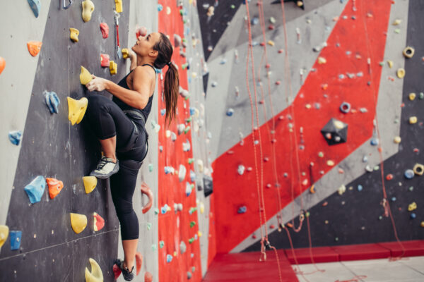Klettern Frau Sport