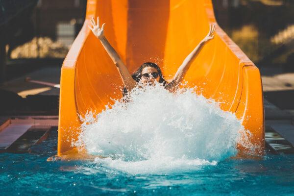 Wasserrutsche Kind Schwimmbad