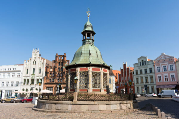 Urlaub in Mecklenburg-Vorpommern: Wismar Marktplatz
