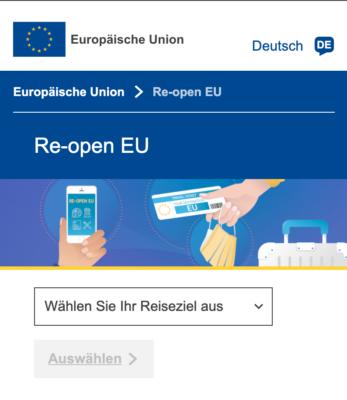 Re-open EU Auswahl
