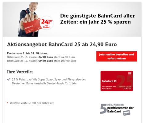 Bahncard Aktion