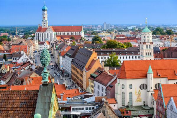 Deutschland Augsburg Ausblick