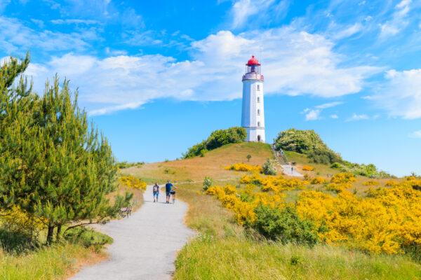 Urlaub in Mecklenburg-Vorpommern: Hiddensee Leuchtturm Dornbusch