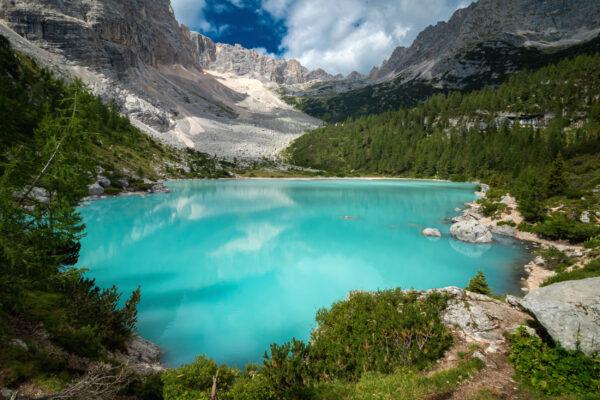 Italien Lago di Sorapis türkis