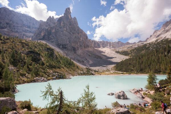 Italien Lago di Sorapis wandern