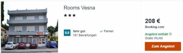 Kroatien Rooms Vesna