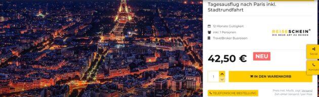 Tagesausflug Paris