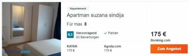 Kroatien Zusana Apartment