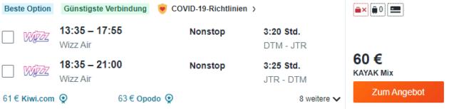 Flug Dortmund Fira