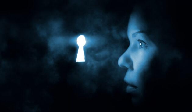 Schlüsselloch mysteriöses Licht