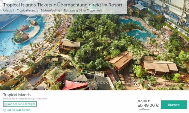 Tropical Islands 2 Tage