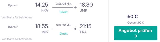 5 Tage Mykonos Flug