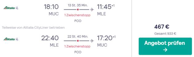 Flug München Male