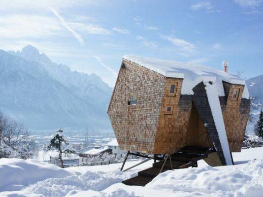 Österreich Tirol Ufogel aussen Winter